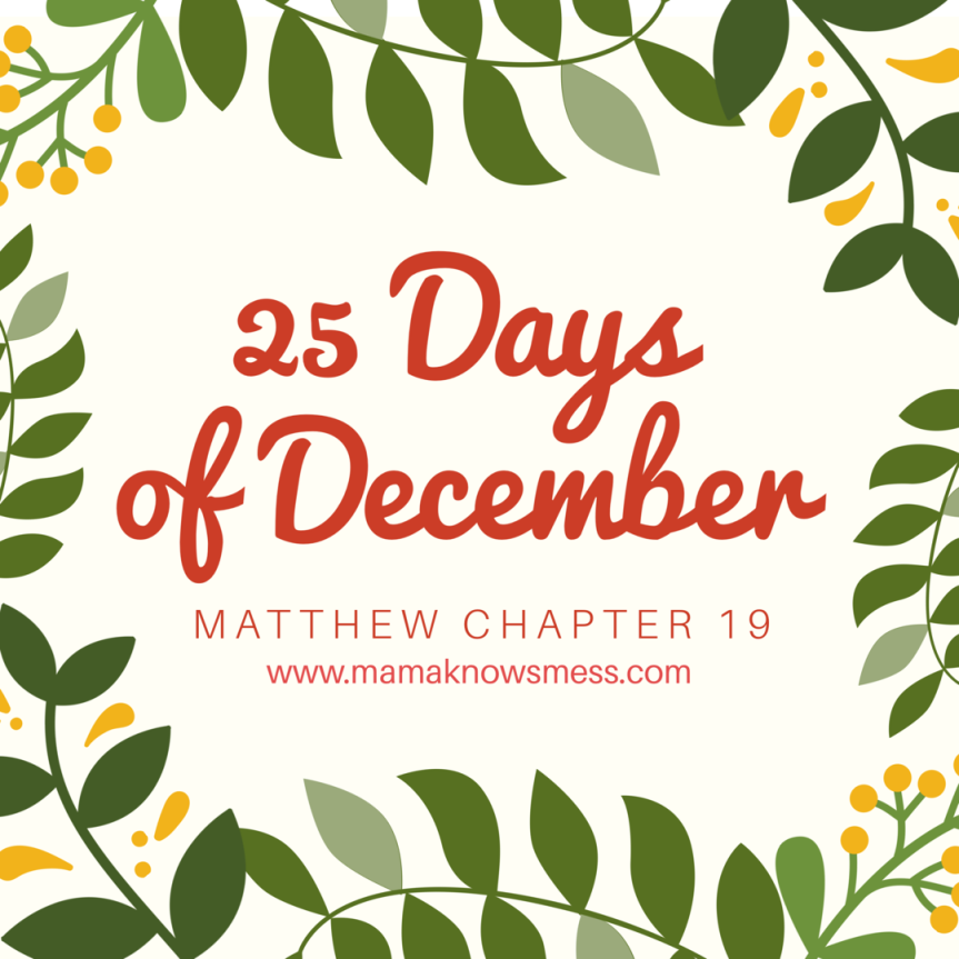 25 Days of December: Matthew Chapter 19