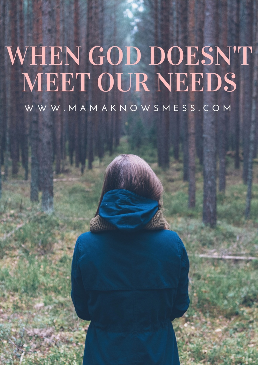 When God Doesn't Meet OurNeeds